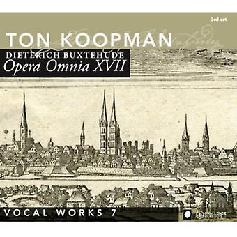D. Buxtehude - Buxtehude: Opera Omnia Xvii - Vocal Works Volume 7 [CD] USA import