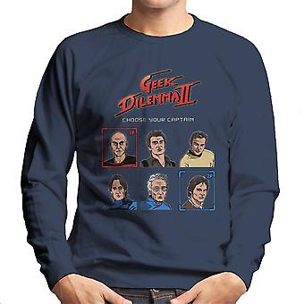 Geek Dilemma II Choose Your Captain Men's Sweatshirt