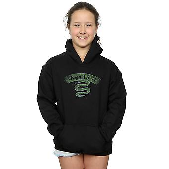 Harry Potter Girls Slytherin Sport Emblem Hoodie