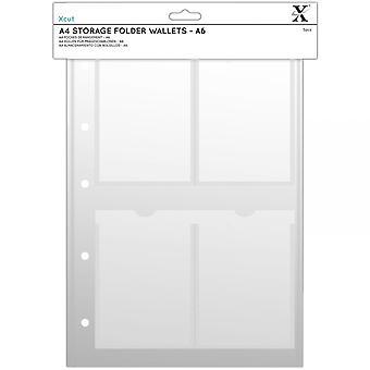 DoCrafts Xcut A6 Storage Folder Wallets Pack Of 5