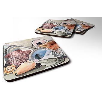 Carolines schatten 8619FC Set van 4 zee schelpen schuim Coasters