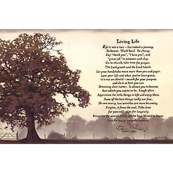 Living Life Poster Print by Bonnie Mohr (18 x 12)
