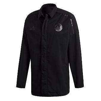2018-2019 Kolombiya Adidas ZNE Dokuma Marşı Ceket (Siyah)