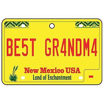 New Mexico - beste bestemor lisens Plate bil Air Freshener