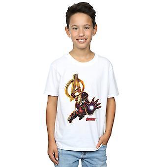 Marvel jungen Eisen Mann Pose T-Shirt