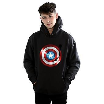 Marvel Men's Captain America Turntable Hoodie