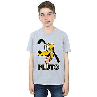 Disney jungen Pluto Gesicht T-Shirt