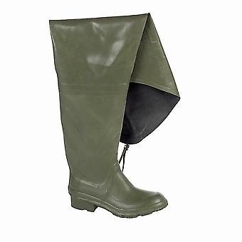 Dikamar Administrator Thigh Wader / Mens Boots / Plain Rubber Wellingtons