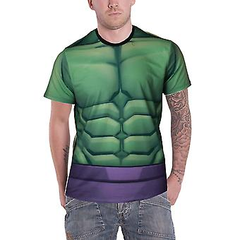 Hulk T Shirt Incredible Hulk costume new Official Marvel Mens Sub Dye print