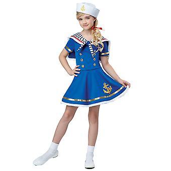 Sunny Sailor Kız Lacivert Askeri Deniz Deniz Kitap Hafta Kız Kostüm
