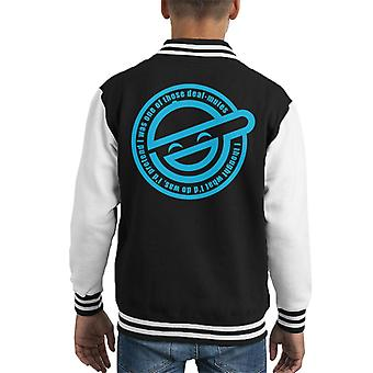 Laughing Man Pretend Deaf Mutes Ghost In The Shell Kid's Varsity Jacket