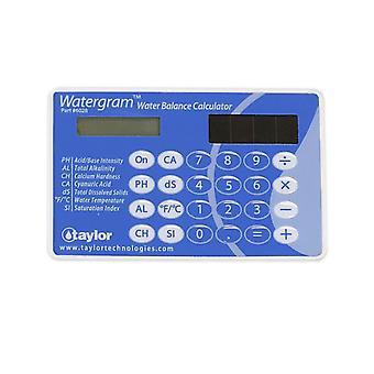Taylor 6028 Watergram Water Balance Calculator