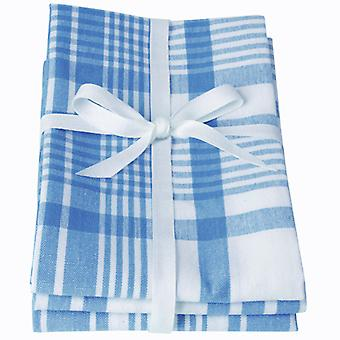 Love Colour Set of 3 Tea Towels, Moroccan Blue