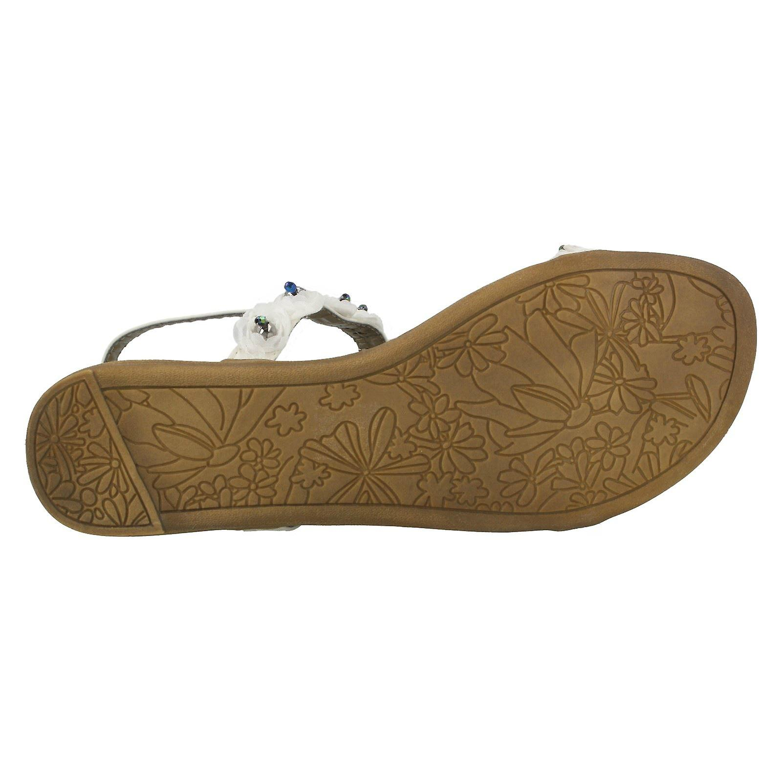 Ladies Spot On Beaded Flower Sandal