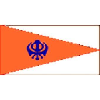 Sikh vlag 5 ft x 3 ft rechthoekige vorm met oogjes