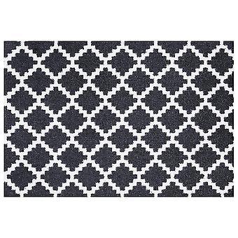 Washable mats elegance black white