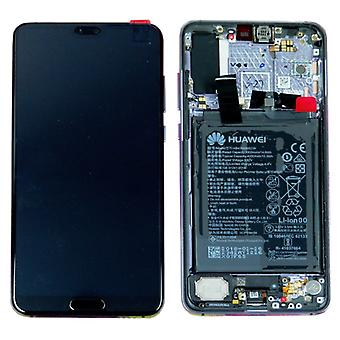 Huawei הצג יחידת LCD + מסגרת עבור P20 Service Pack Pro 02351WQK שחור