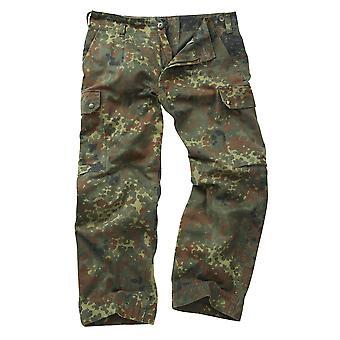 Echte Vintage deutsches Militär Flecktarn Hose