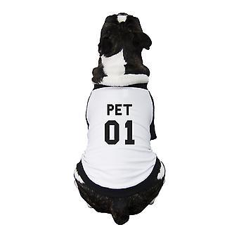 Pet01 الحيوانات الأليفة البيسبول قميص البيسبول رسم مضحك المحملة للكلاب الصغيرة