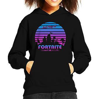 Fortnite Just Play It Retro 80s Kid's Hooded Sweatshirt