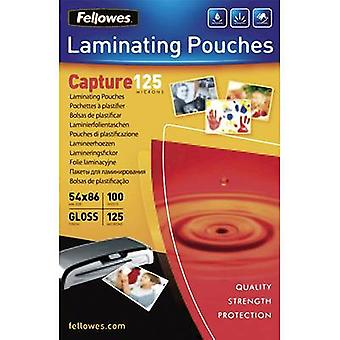 Fellowes Laminate sheet 86 x 54 mm, Credit card 125 micron glossy 100 pc(s)