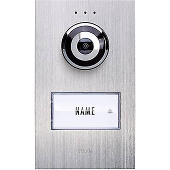 m-e modern-electronics Vistadoor VDV 610 compact Video door intercom Corded Outdoor panel Detached Stainless steel
