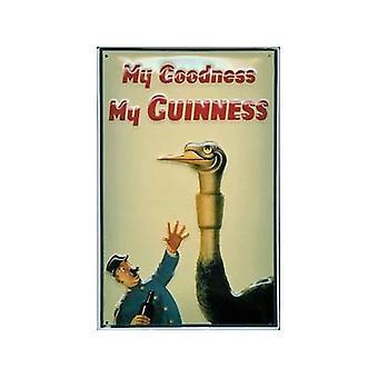 Guinness struts präglad metall skylt