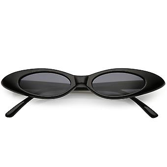 الترا رقيقة نظارات بيضاوية المدقع محايدة العدسة البيضاوي الملونة 47 مم