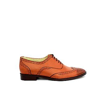 Handcrafted Premium Leather Barnes Brown Oxford Shoe