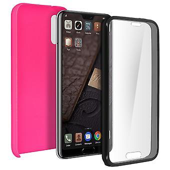 Funda de silicona + carcasa trasera en policarbonato para Huawei P20 - rosa