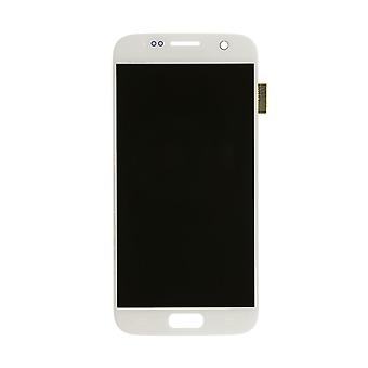 LCD Display & Touch Screen Digitizer Assembly Replacement for Samsung Galaxy S7 (White)
