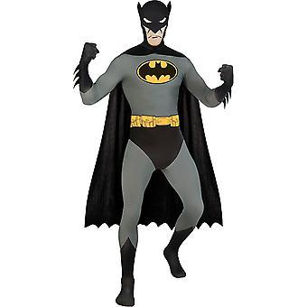 2. bőr Batman teljes test suit második bőr jelmez felnőtteknek