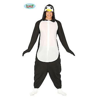 Pinguïn pak voor volwassenen unisex kostuum dierlijke jumpsuit carnaval JGA