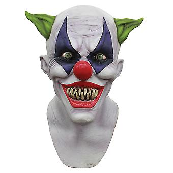Creepy Giggles Horror Joker Sinister Creepy Mens Costume Overhead Latex Mask