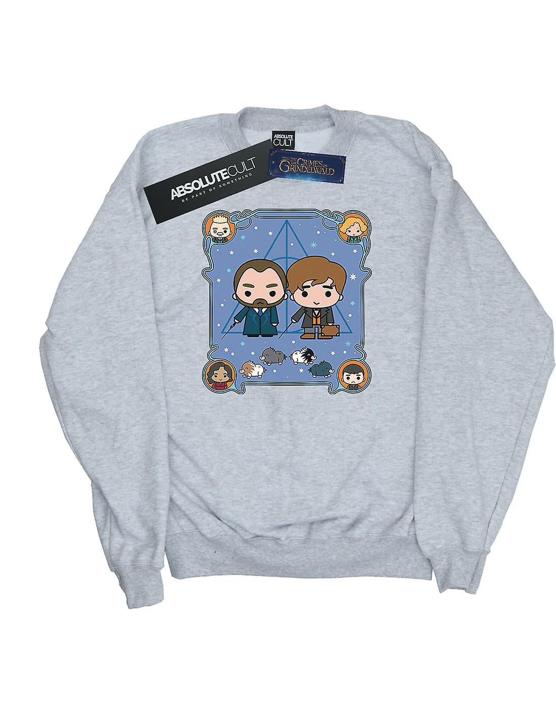 Fantastic Beasts Men's Chibi Newt And Dumbledore Sweatshirt