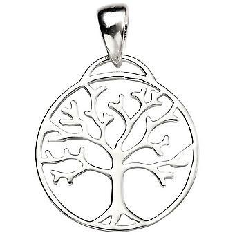 Anfänge der Lebensbaum Anhänger - Silber ausgeschnitten