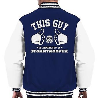 Original Stormtrooper This Guy Is Secretly A Trooper Men's Varsity Jacket