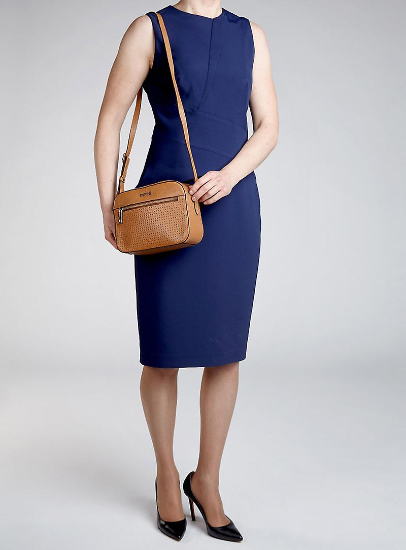 Viver Leather Crossbody Bag Belle Tan