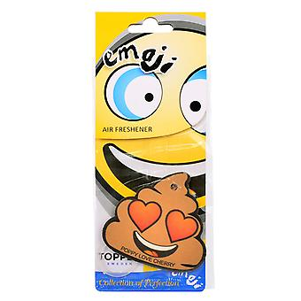 Fragrance gran for the car air Freshener Emoticon Poop Love Cherry