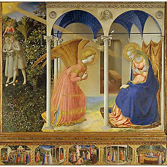 Altarpiece of the Annunciation, Fra Angelico, 50x50cm