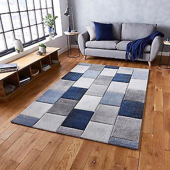 Brooklyn 21830 Rectangle bleu gris tapis tapis modernes