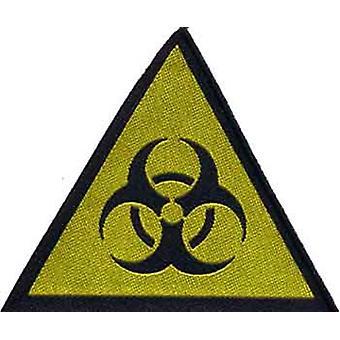 Biohazard Symbol sy på klud patch (rz)