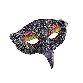 Glittery Molded Pantalone Style Half Face Costume Mask