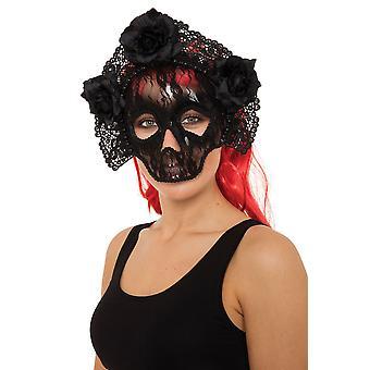 Vrij dodelijke Lace schedel Eye Mask