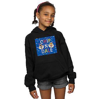 Disney Girls Chip N Dale modrý rám Hoodie
