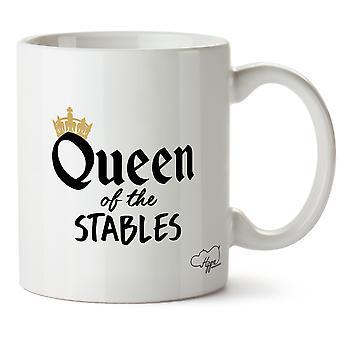 Королева Hippowarehouse лошадях конюшни напечатаны Кубка керамическая кружка 10oz