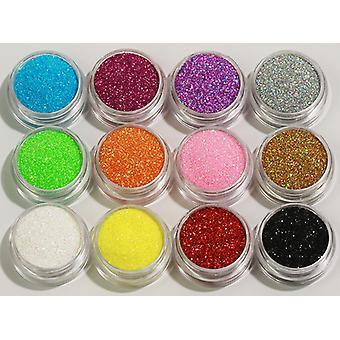 12pcs Lattine popolari Glitter fine