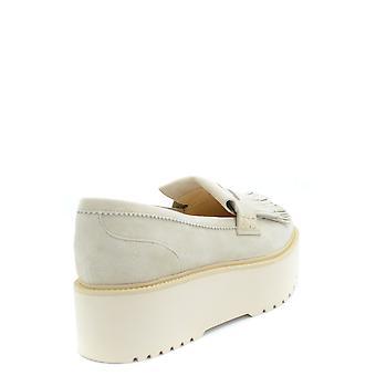 Hogan Ezbc030091 Frauen's Beige Wildleder Loafers