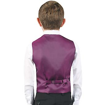 Dobell ragazzi viola Paisley gilet Regular Fit Wedding