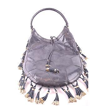 Bikkembergs Ezbc101071 Women's Grey Patent Lederen Handtas